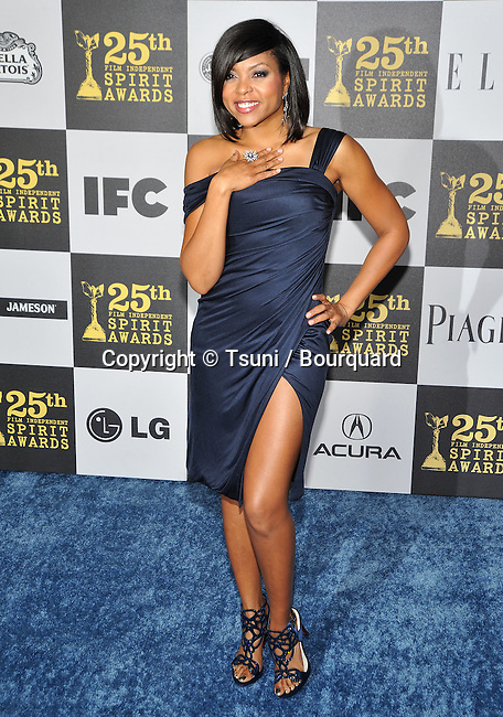 Taraji P Henson _42   -<br /> 25th Film Independent Spirit Awards at the Nokia Theatre In Los Angeles.