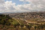 Israel, Jerusalem, A view of Jerusalem from Mount Scopus, June 2006<br />