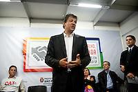 SÃO PAULO, SP, 11.05.2015 - HADDAD-SP - O prefeito de São Paulo Fernando Haddad durante abertura da Semana do Emprego no Vale do Anhagabaú na região central da cidade, na tarde dessa segunda-feira 11. (Foto: Gabriel Soares / Brazil Photo Press)