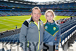 Jerome and Amy O'Sullivan, (Crotta, Kilflynn), pictured at the All Ireland Minor Football Final of Kerry v Derry in Croke Park on Sunday last.