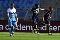 Perparim Hetemaj of AC Chievo Verona celebrates after scoring goal of 0-2 during the Serie A 2018/2019 football match between SS Lazio and AC Chievo Verona at stadio Olimpico, Roma, April, 20, 2019 <br /> Photo Antonietta Baldassarre / Insidefoto