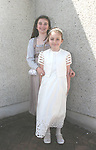 Ciara and Aoife Fry at the Donacarney First Holy Communion...Photo NEWSFILE/Jenny Matthews.(Photo credit should read Jenny Matthews/NEWSFILE)....This Picture has been sent you under the condtions enclosed by:.Newsfile Ltd..The Studio,.Millmount Abbey,.Drogheda,.Co Meath..Ireland..Tel: +353(0)41-9871240.Fax: +353(0)41-9871260.GSM: +353(0)86-2500958.email: pictures@newsfile.ie.www.newsfile.ie.FTP: 193.120.102.198.