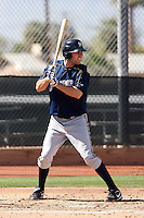 Chris Nowak of the Milwaukee Brewers plays in a spring training game against the Los Angeles Dodgers at the Brewers complex on April 2, 2011 in Phoenix, Arizona. .Photo by:  Bill Mitchell/Four Seam Images.