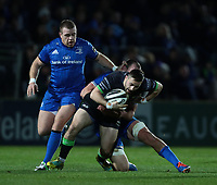 4th January 2020; RDS Arena, Dublin, Leinster, Ireland; Guinness Pro 14 Rugby, Leinster versus Connacht; Caolin Blade (Captain Connacht) is tackled by Rhys Ruddock (Captain Leinster)  - Editorial Use