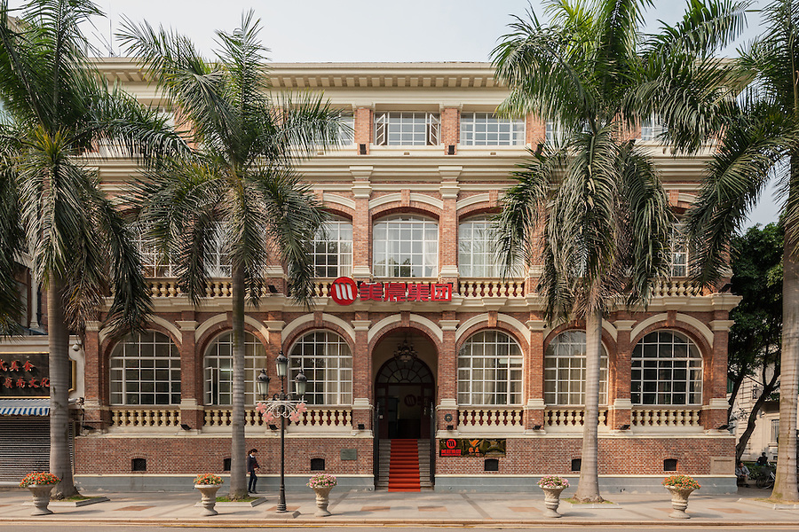 Office Building At No. 48 South Street, Shamian (Shameen) Island, Guangzhou (Canton). Built In 1881 With Two Floors, The Third Was Added In The Early 1900's.