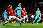 Henrikh Mkhitaryan of Manchester United misses a chance during the UEFA Europa League match at Old Trafford, Manchester. Picture date: November 24th 2016. Pic Matt McNulty/Sportimage