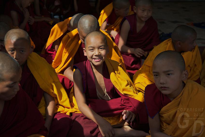 Novise Buddhist Monks at Kopan Monastery, Kathamandu,Nepal