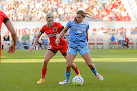 Bridgeview, IL - Sunday June 12, 2016: Allie Long, Sofia Huerta during a regular season National Women's Soccer League (NWSL) match between the Chicago Red Stars and the Portland Thorns at FC Toyota Park.