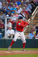 Boston Red Sox catcher Blake Swihart (23) at bat during a Spring Training game against the Minnesota Twins on March 16, 2016 at Hammond Stadium in Fort Myers, Florida.  Minnesota defeated Boston 9-4.  (Mike Janes/Four Seam Images)