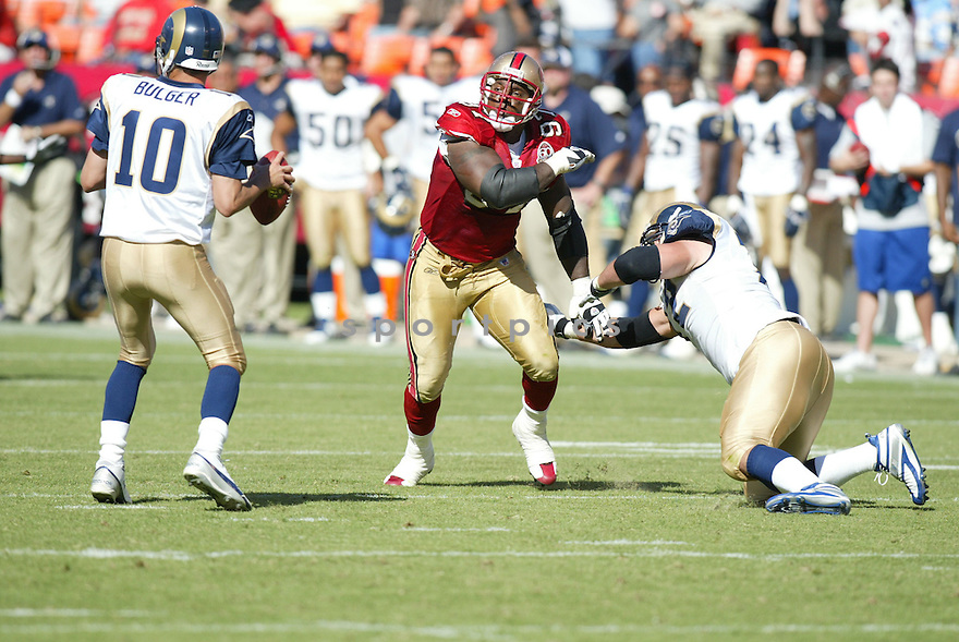 BRYANT YOUNG, of the San Francisco 49er's , during their game against the St. Louis Rams on September 17, 2006 in San Francisco, CA...49er's win 20-13..Rob Holt / SportPics.