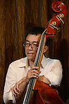 DC Stage, Kaohsiung -- Band leader Samuel Liu of Smalls Jazz Combo on double bass.