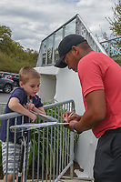 Jhonattan Vegas (VEN) signs autographs after spending time on the driving range following day 2 of the World Golf Championships, Dell Match Play, Austin Country Club, Austin, Texas. 3/22/2018.<br /> Picture: Golffile | Ken Murray<br /> <br /> <br /> All photo usage must carry mandatory copyright credit (&copy; Golffile | Ken Murray)