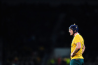 Dean Mumm of Australia looks on during a break in play. The Rugby Championship match between Argentina and Australia on October 8, 2016 at Twickenham Stadium in London, England. Photo by: Patrick Khachfe / Onside Images