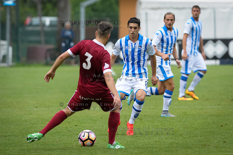 Gaston Brugman (Pescara) during the withdrawal preseason Serie A; match friendly between Pescara vs San Nicolò, on July 28, 2016. Photo: Adamo Di Loreto/BuenaVista*photo