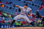 15 April 2018: Colorado Rockies starting pitcher Tyler Anderson on the mound against the Washington Nationals at Nationals Park in Washington, DC. All MLB players wore Number 42 to commemorate the life of Jackie Robinson and to celebrate Black Heritage Day in pro baseball. The Rockies edged out the Nationals 6-5 to take the final game of their 4-game series. Mandatory Credit: Ed Wolfstein Photo *** RAW (NEF) Image File Available ***