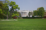 The White House, Washington, DC<br /> South facade of the White House across the South Lawn and fountain