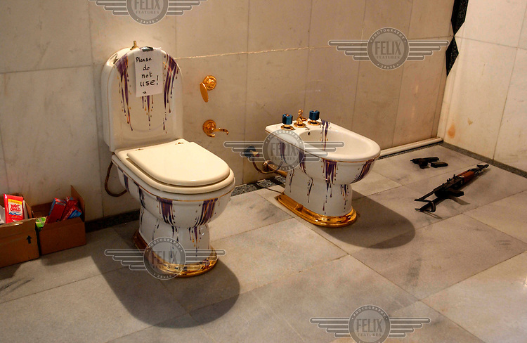 A Bathroom In Saddam Hussein S Palace In Basra Shows The