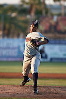 April 9th 2010:  Wily Peralta of the Brevard County Manatees pitches in the game against the Daytona Beach Cubs at Jackie Robinson Ballpark in Daytona Beach, FL (Photo By Scott Jontes/Four Seam Images)
