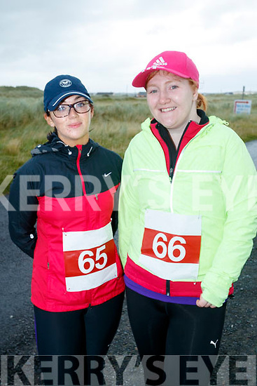 Yvonne O'Brien, Ballylongford and Karina O'Driscoll, Listowel pictured at the Banna 10K run on Sunday morning.