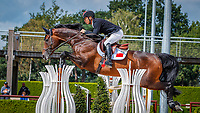 CHN-Tongyan Liu rides Chaccato during the first round. 2019 NED-FEI Olympic Qualifier for Team Jumping - Group G. Tops International Arena. Valkenswaard. Netherlands. Tuesday 13 August. Copyright Photo: Libby Law Photography