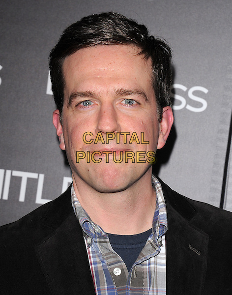 """ED HELMS.The Relativity Media's L.A. Premiere of """"Limitless"""" held at The Arclight Theatre in Hollywood, California, USA..March 3rd, 2011.headshot portrait black grey gray .CAP/RKE/DVS.©DVS/RockinExposures/Capital Pictures."""