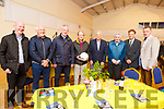 Dr Sean Murphy and Tommy Doyle who were honoured in the Camp Community Centre on Sunday stand with former Kerry legends John Kennedy, Charlie Nelligan, Sean Walsh, Johnny Culloty, Dr Sean Murphy, Micko Dwyer, Tommy Doyle and Tim Murphy (Chairman Kerry GAA)