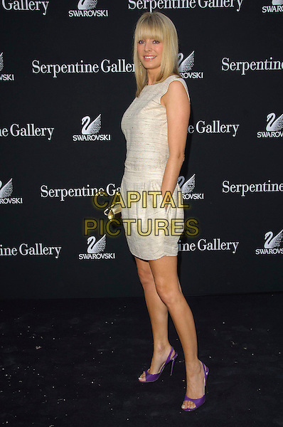 TESS DALY.Serpentine Gallery Summer Party.Kensington Park Gardens.11th July 2007, London England.full length .Ref: CAP/CAS.©Bob Cass/Capital Pictures.