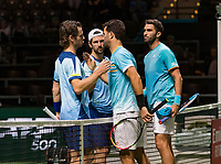 Rotterdam, The Netherlands, 14 Februari 2019, ABNAMRO World Tennis Tournament, Ahoy, <br /> Jean-Julien Rojer (NED) / Horia Tecau (ROU) vs Wesley Koolhof (NED) / Jurgen Melzer (AUT),<br /> Photo: www.tennisimages.com/Henk Koster