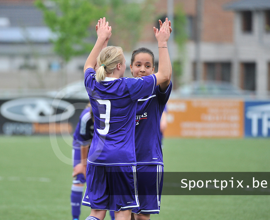 AA Gent Ladies U16 - RSC Anderlecht : Nancy Vernin.foto DAVID CATRY / Nikonpro.be