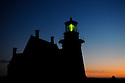 BLOCK ISLAND, RI - Sept. 3, 2009--South Light at sunrise. CREDIT: JODI HILTON FOR THE NEW YORK TIMES