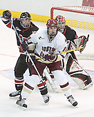 NU ?, Brian Boyle, Adam Geragosian - The Boston College Eagles defeated Northeastern University Huskies 5-3 on Saturday, November 19, 2005, at Kelley Rink in Conte Forum at Chestnut Hill, MA.