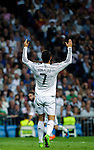 Real Madrid's Portuguese forward Cristiano Ronaldo during the Spanish league football match Real Madrid vs Athletic Club Bilbao at the Santiago Bernabeu stadium in Madrid on October 5, 2014.  Daniel Calleja / Photocall3000