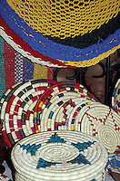 Honduarn straw handicrafts and hammocks in the Guamilito Market, San Pedro Sula, Honduras