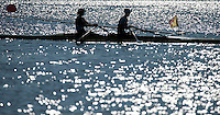 Brandenburg. GERMANY. GBR W2X, Bow Katherine GRAINGER and Victoria THORNLEY. <br /> 2016 European Rowing Championships at the Regattastrecke Beetzsee<br /> <br /> Saturday  07/05/2016<br /> <br /> [Mandatory Credit; Peter SPURRIER/Intersport-images]