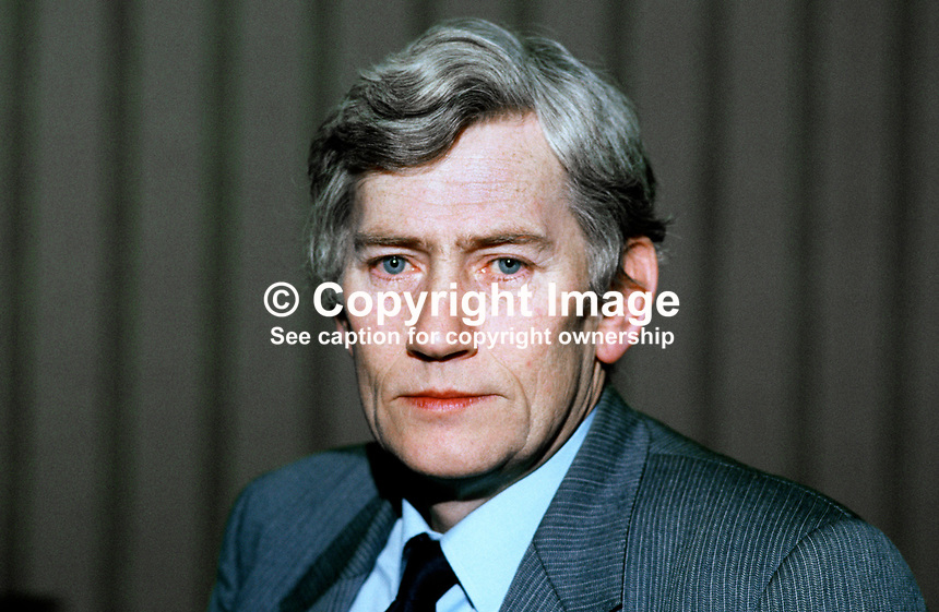 Seamus Mallon, deputy leader, SDLP, Social Democratic &amp; Labour Party, N Ireland, UK, and member of Rep of Ireland Senate, 19840012SM.<br />
