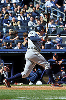 Apr 03, 2011; Bronx, NY, USA; Detroit Tigers outfielder Don Kelly (32) during game against the New York Yankees at Yankee Stadium. Tigers defeated the Yankees 10-7. Mandatory Credit: Tomasso De Rosa