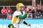 North Dakota State Bison quarterback Carson Wentz (11) in action during the FCS Championship game between the North Dakota State Bison and the Illinois State Redbirds at the Toyota Stadium in Frisco, Texas. North Dakota defeats Illinois 29 to 27.