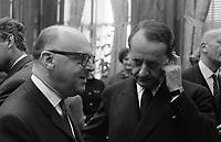 Archives de la Ville de Montréal<br /> Jean Drapeau et André Malraux à l'hôtel de ville de Montréal, 10 octobre 1963