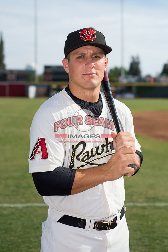 Visalia Rawhide catcher Daulton Varsho (9) poses for a photo before a California League game against the Stockton Ports at Visalia Recreation Ballpark on May 10, 2018 in Stockton, California. (Zachary Lucy/Four Seam Images via AP Images)