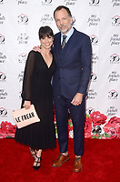 LOS ANGELES - APR 7:  Constance Zimmer, Russ Lamoureux at the My Friend's Place 30th Anniversary Gala on the Hollywood Palladium on April 7, 2018 in Los Angeles, CA