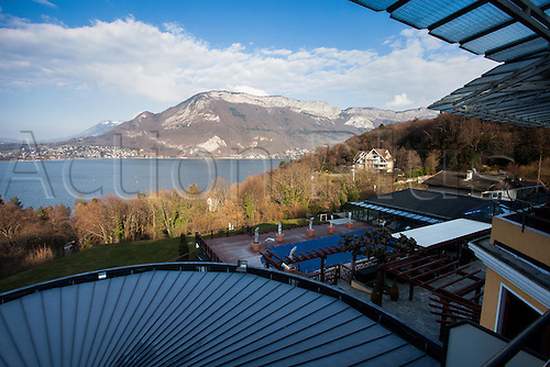 21.03.2016. Annecy Le Vieux, France. Iceland national football team hotel and base for the upcoming Euro 2016 tournament.   Annecy<br /> Hotel Resort-Spa les Tresoms
