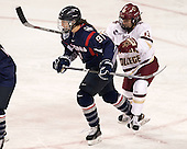 Madison Badeau (UConn - 91), Haley McLean (BC - 13) - The Boston College Eagles defeated the visiting UConn Huskies 4-0 on Friday, October 30, 2015, at Kelley Rink in Conte Forum in Chestnut Hill, Massachusetts.