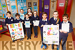 Caherleaheen NS students launch their Bingo Fundraiser for the school on Friday morning last.<br /> Front l-r, Nadal Rivas McHugh, Faye Diggin and Reece Long.<br /> Back l-r, Will Leahy, Matthew Rogers, Enda Sheehan, Rachel Sargent, Lala Grace Galway and Connie Feeney.