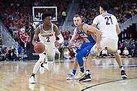 LAS VEGAS, NV - March 10, 2017: Arizona Wildcats Men's Basketball team vs. the UCLA Bruins.  Final Score: Arizona Wildcats 86, UCLA Bruins 75