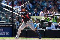 15 March 2009: #2 Kenji Johjima of Japan is seen at bat during the 2009 World Baseball Classic Pool 1 game 1 at Petco Park in San Diego, California, USA. Japan wins 6-0 over Cuba.