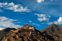 Monastery near Shigatse, Tibet, China.