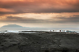 GALAPAGOS ISLANDS, ECUADOR, the sunset and the ocean seen from Fernandina Island