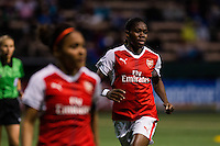 Seattle, WA - Thursday, May 26, 2016: Asisat Oshoala (24) of the Arsenal Ladies FC. The Seattle Reign FC of the National Women's Soccer League (NWSL) and the Arsenal Ladies FC of the Women's Super League (FA WSL) played to a 1-1 tie during an international friendly at Memorial Stadium.
