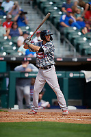 Pawtucket Red Sox Jantzen Witte (35) bats during an International League game against the Buffalo Bisons on August 25, 2019 at Sahlen Field in Buffalo, New York.  Buffalo defeated Pawtucket 5-4 in 11 innings.  (Mike Janes/Four Seam Images)