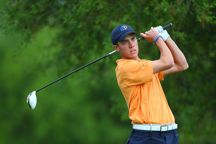 April 18, 2011; Hollister, CA, USA; Pepperdine Waves golfer Parker Page during the WCC Golf Championships at San Juan Oaks Golf Club.